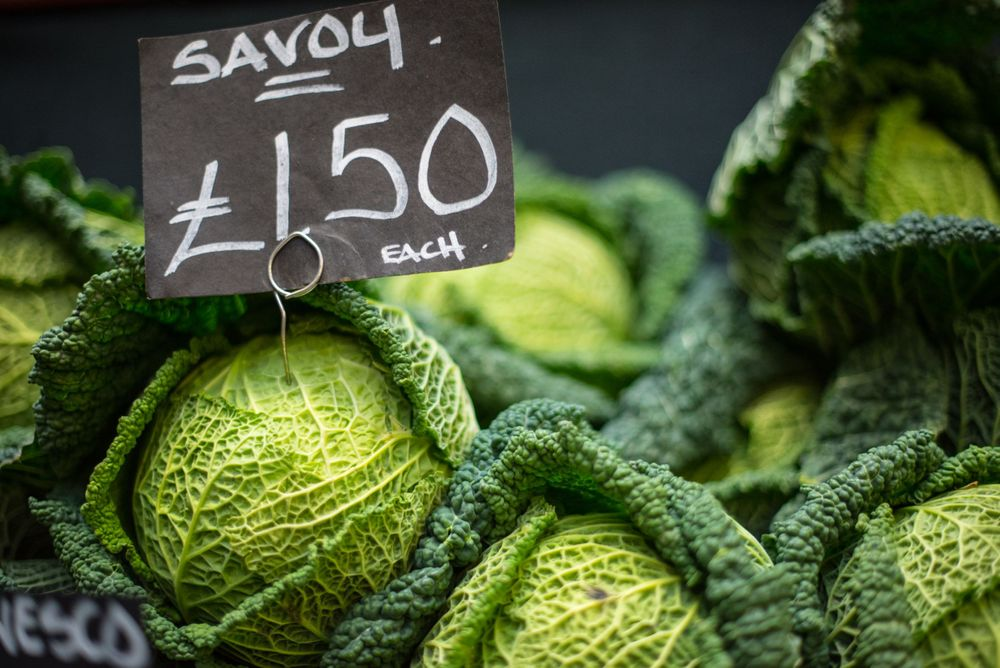 Savoy display at Borough Market, London