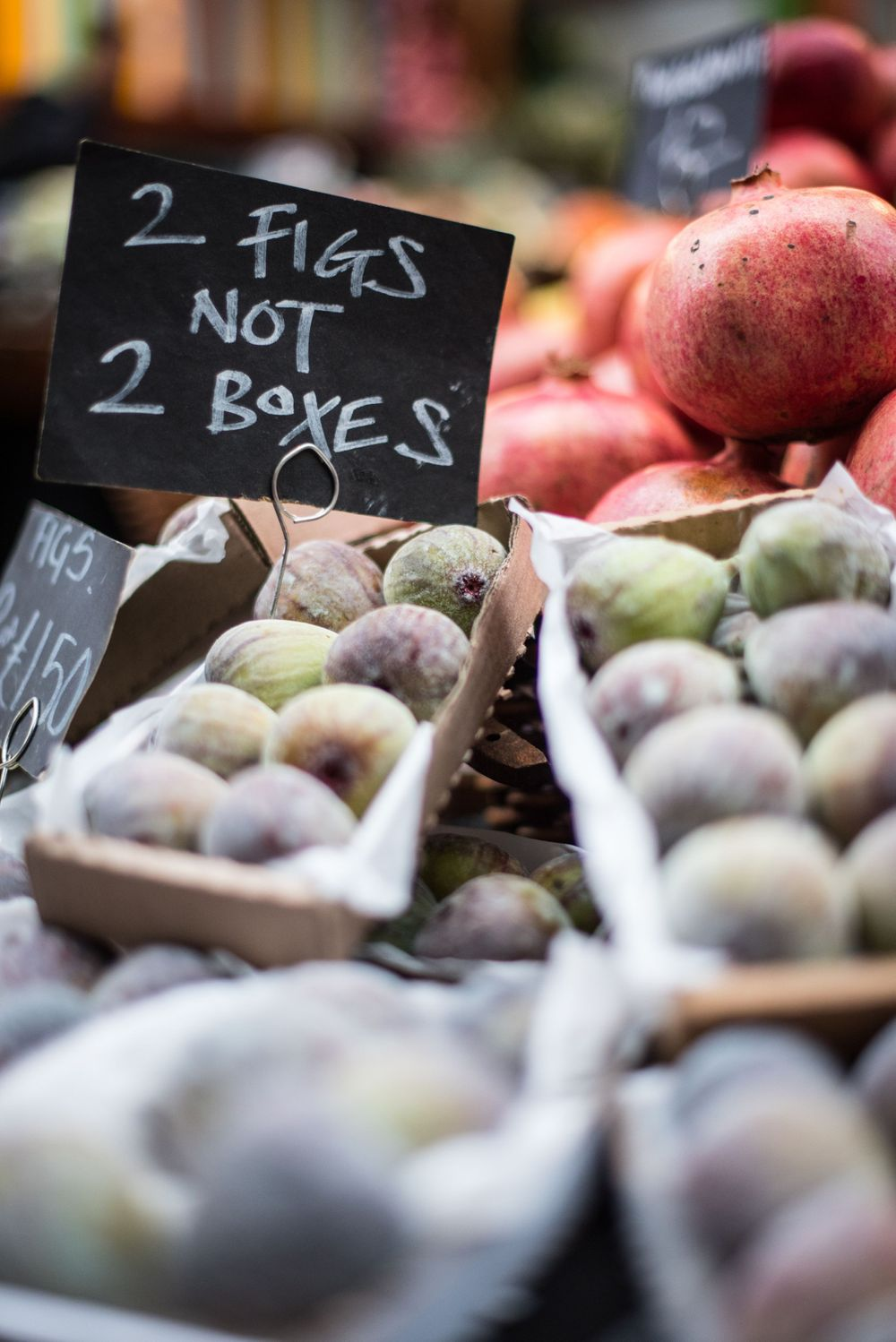 Fig display at Borough Market, London