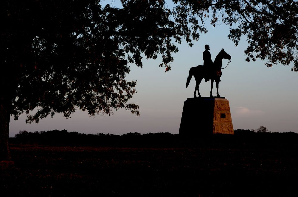 Gettysburg Pennsylvania Civil War Monument at Sunset Travel Photography by Charity Beth Long