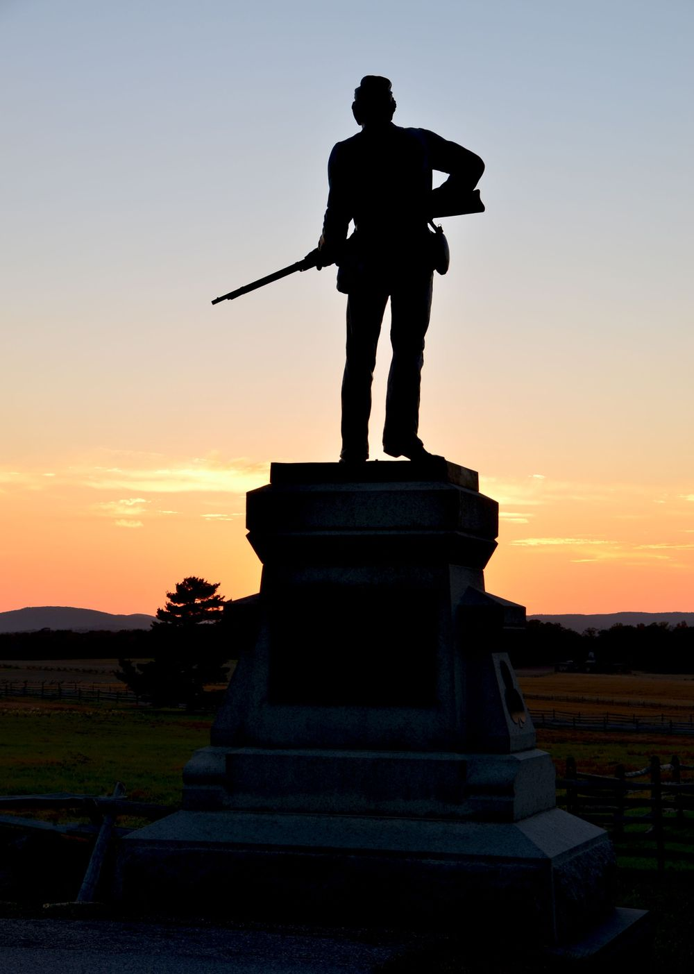 Civil War Monument in Gettysburg at Sunset Travel Photography by Charity Beth Long