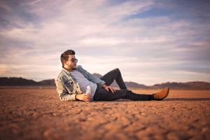 "Will Finley ""Demolished"" Album cover shoot on Dry Lake Bed"