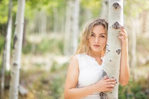 Diana in birch tree forest. Mt. Charleston Nevada