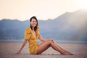 Dry Lake bed Nevada Portrait session with Marina