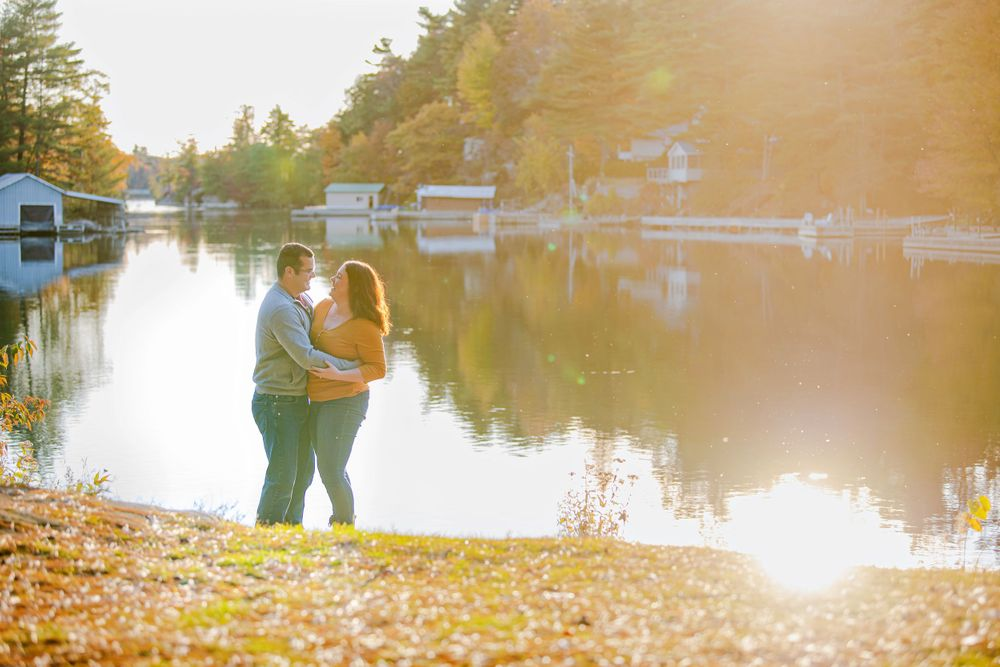 Kingston Couples Photography - Couple by the waters edge at sunset