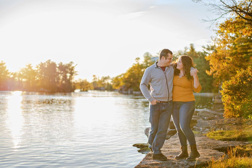 Kingston Couples Photography - Couple walking with arms around each other