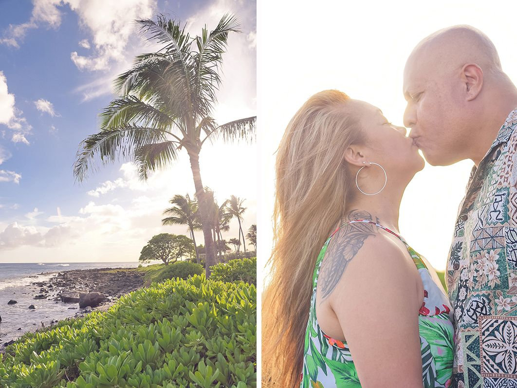 kauai hawaii beach adventure destination engagement photography session