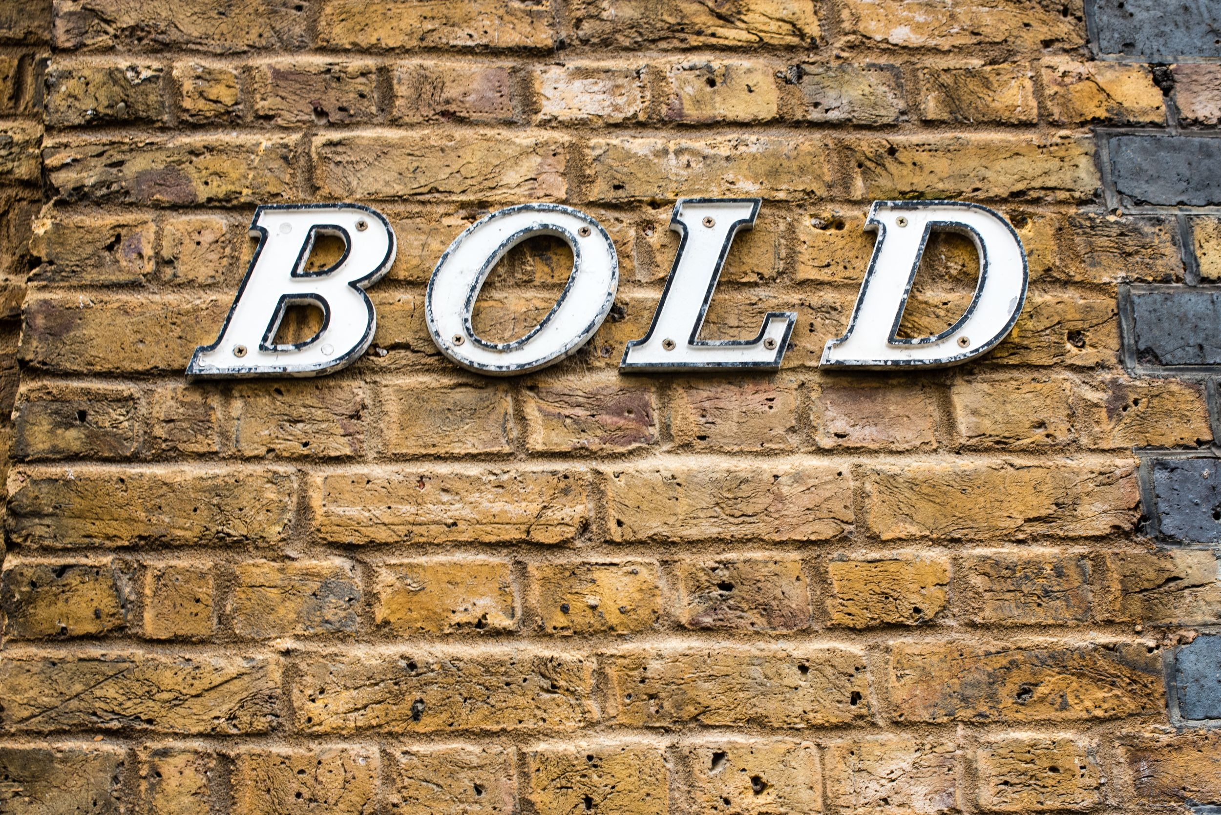 BOLD letters on the face of a building in London's Shoreditch neighborhood