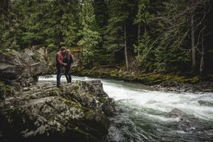 Whistler Maternity Photography Outdoors Nature Forest River