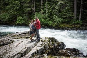 Whistler Maternity Photography Outdoors Nature Forest River Family