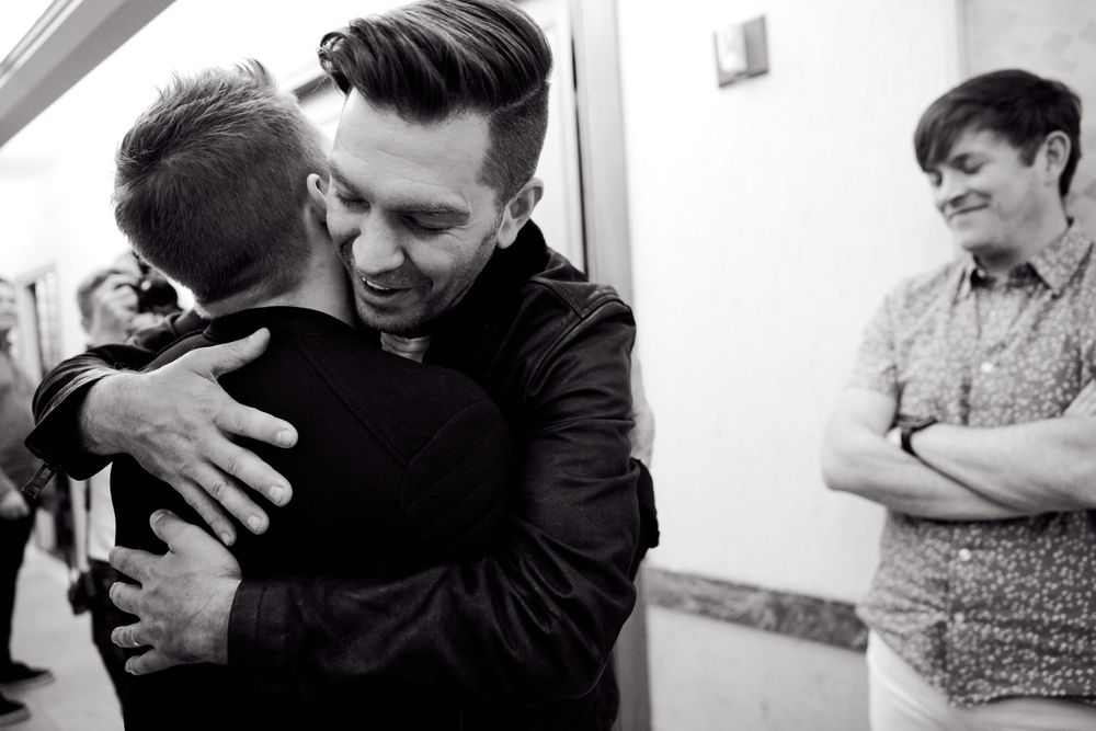 A candid moment with Andy Grammer, Hunter Hayes and Dave Barnes in Nashville, TN. Photo by Joel Alexander