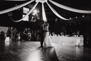 Couple have first dance at their wedding reception