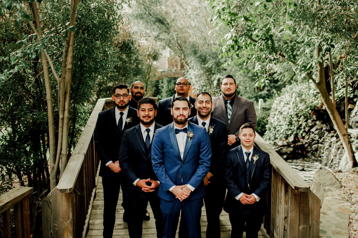 groomsmen formal wedding portraits