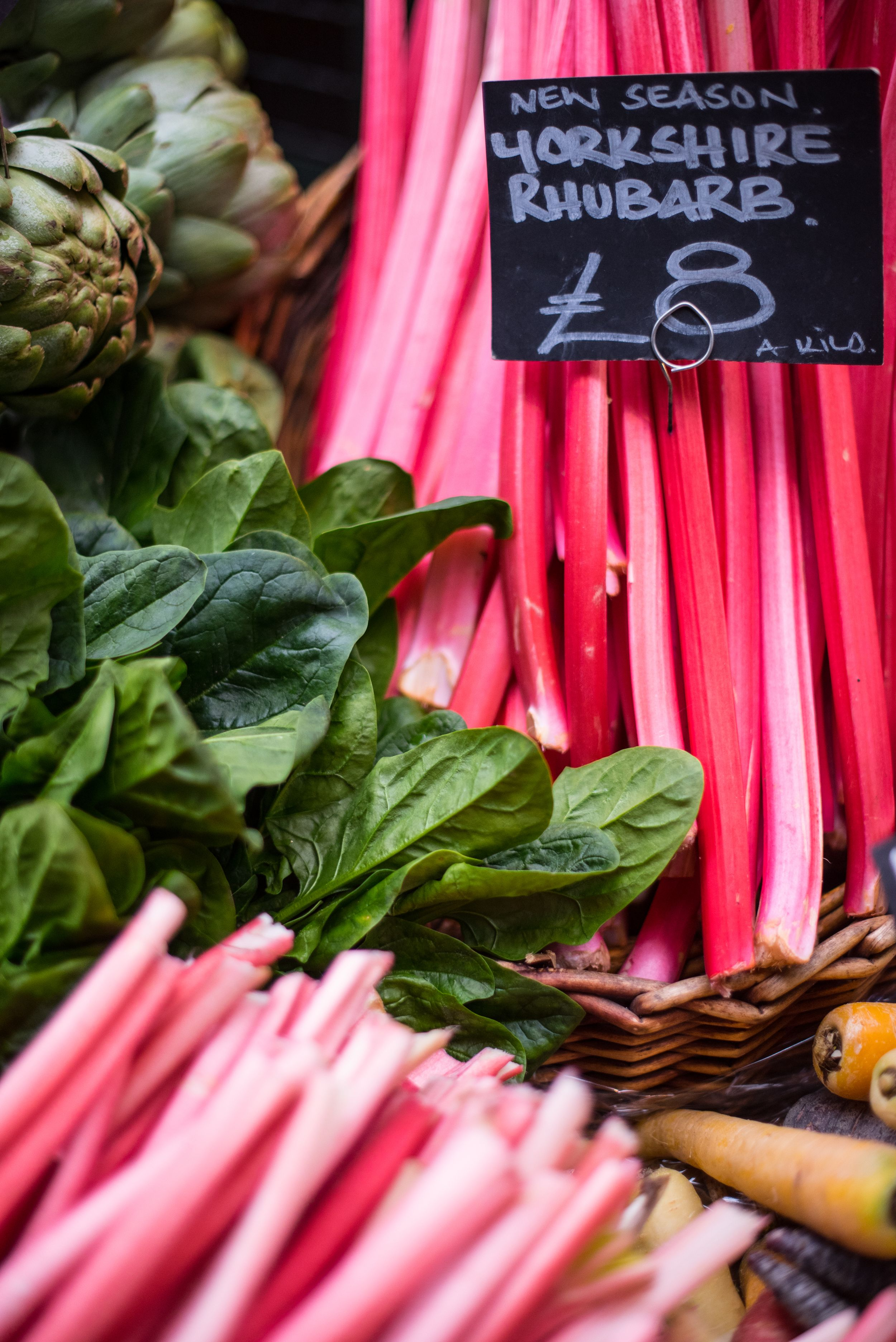 Yorkshire Rhubarb at  Borough Market