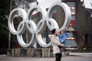 Whistler Family Photography Outdoors Snow Winter Olympic rings