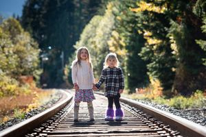 Whistler Family Photography Outdoors Nature Fall Sisters