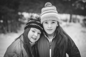 Whistler Family Photography Outdoors Nature Winter Sisters