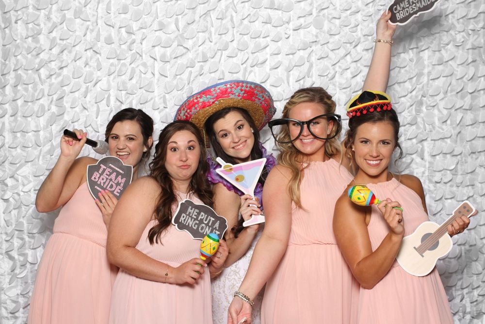Bride and Bridesmaids at Gigglebox Photo Booth