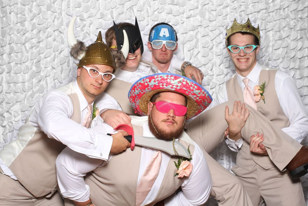 Groomsmen at Gigglebox Photo Booth