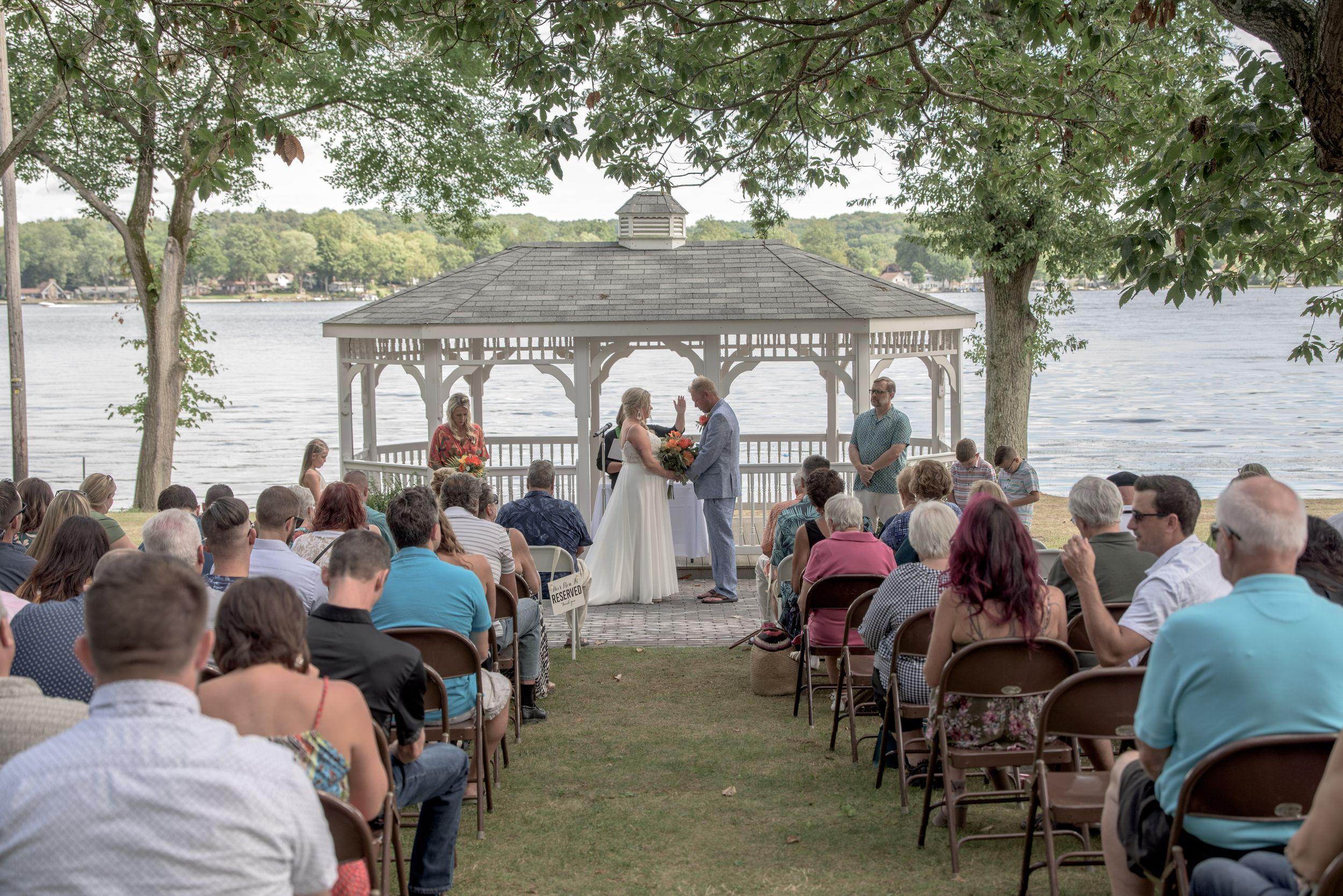 wedding, Tudor House on Portage Lakes, Ohio