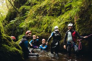 canyoning dollar glen adventure photography scotland