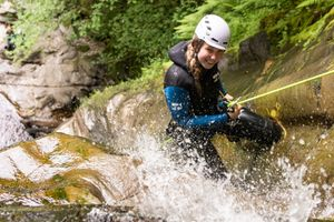 The Adventure Photographers The Canyoning Company Acharn abseil