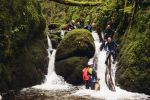canyoning dollar glen scotland adventure photographer
