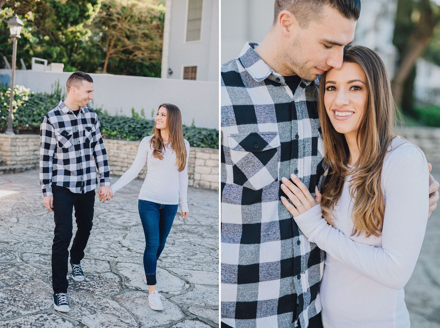 malaga cove library engagement photo