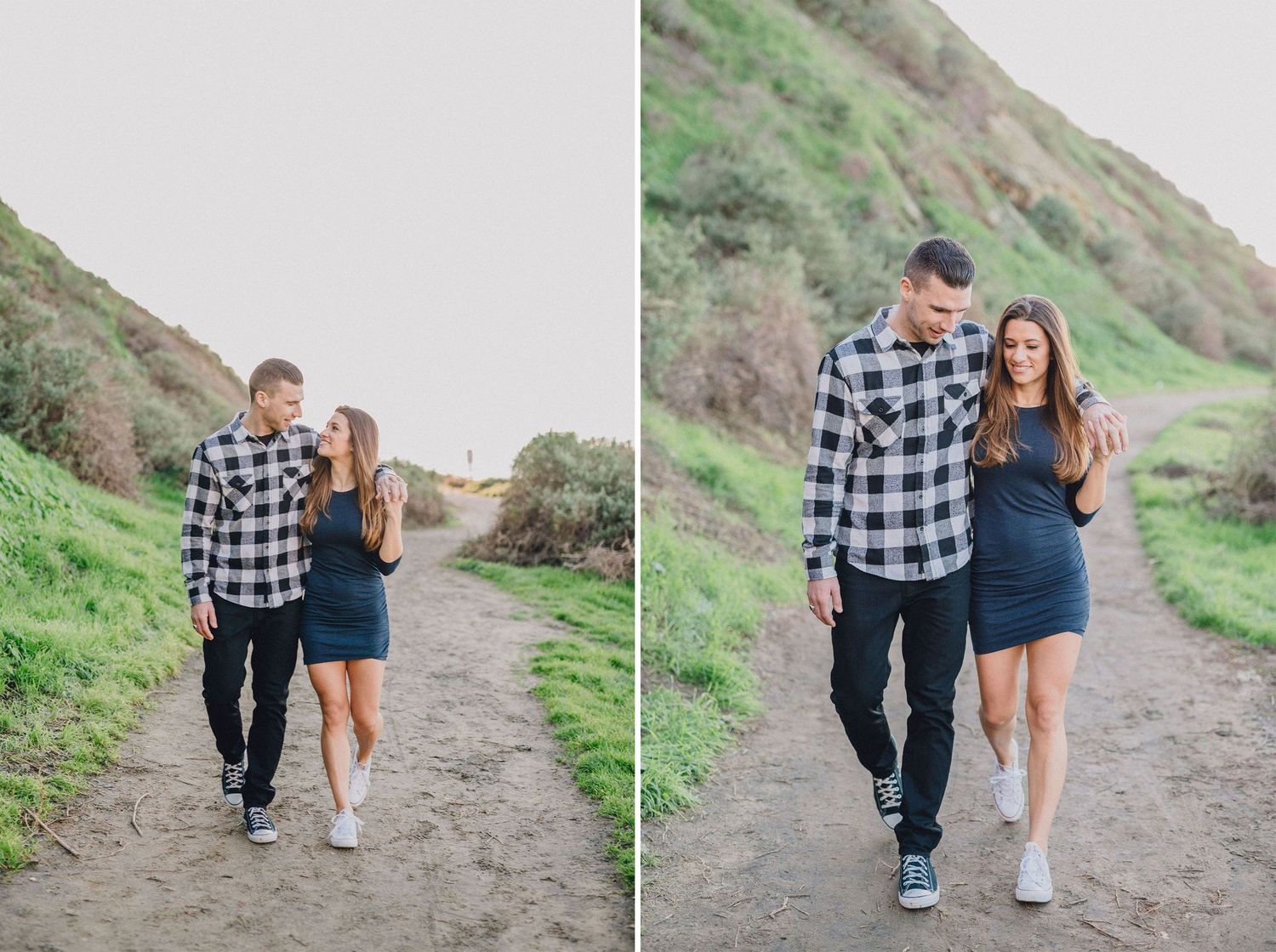 palos verdes beach trail engagement photo