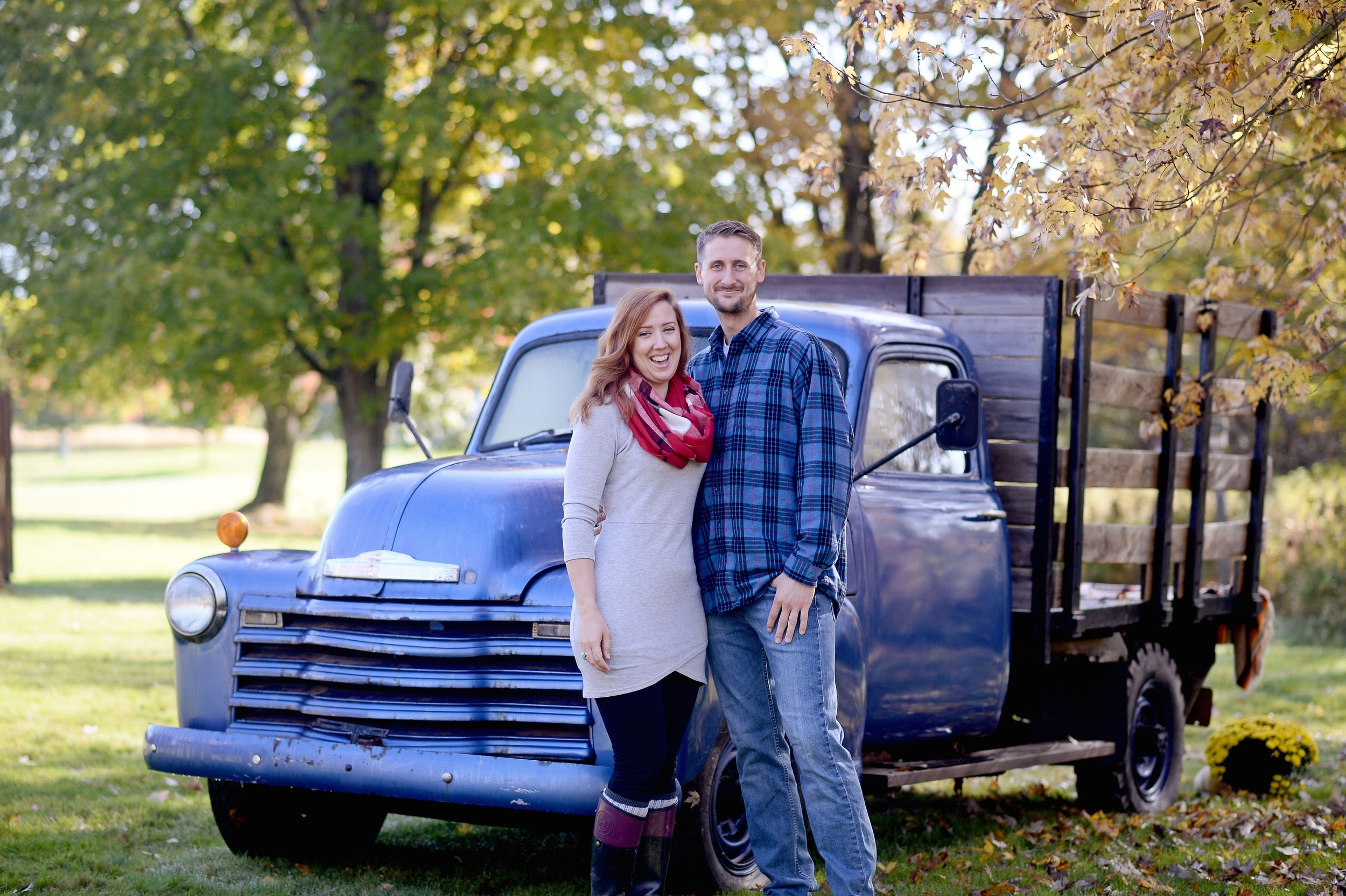 couple fall family session