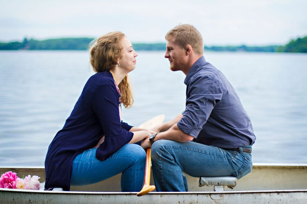 Fishtrap Lake,  MN up north engagement session