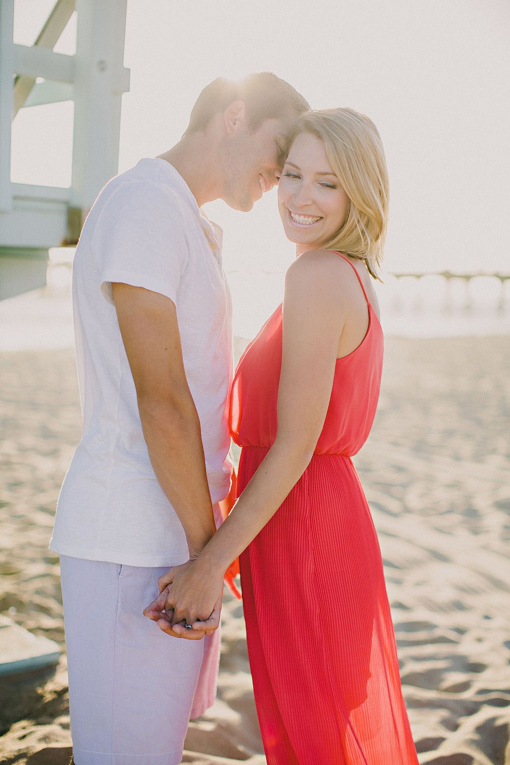 lifeguard tower engagement photo