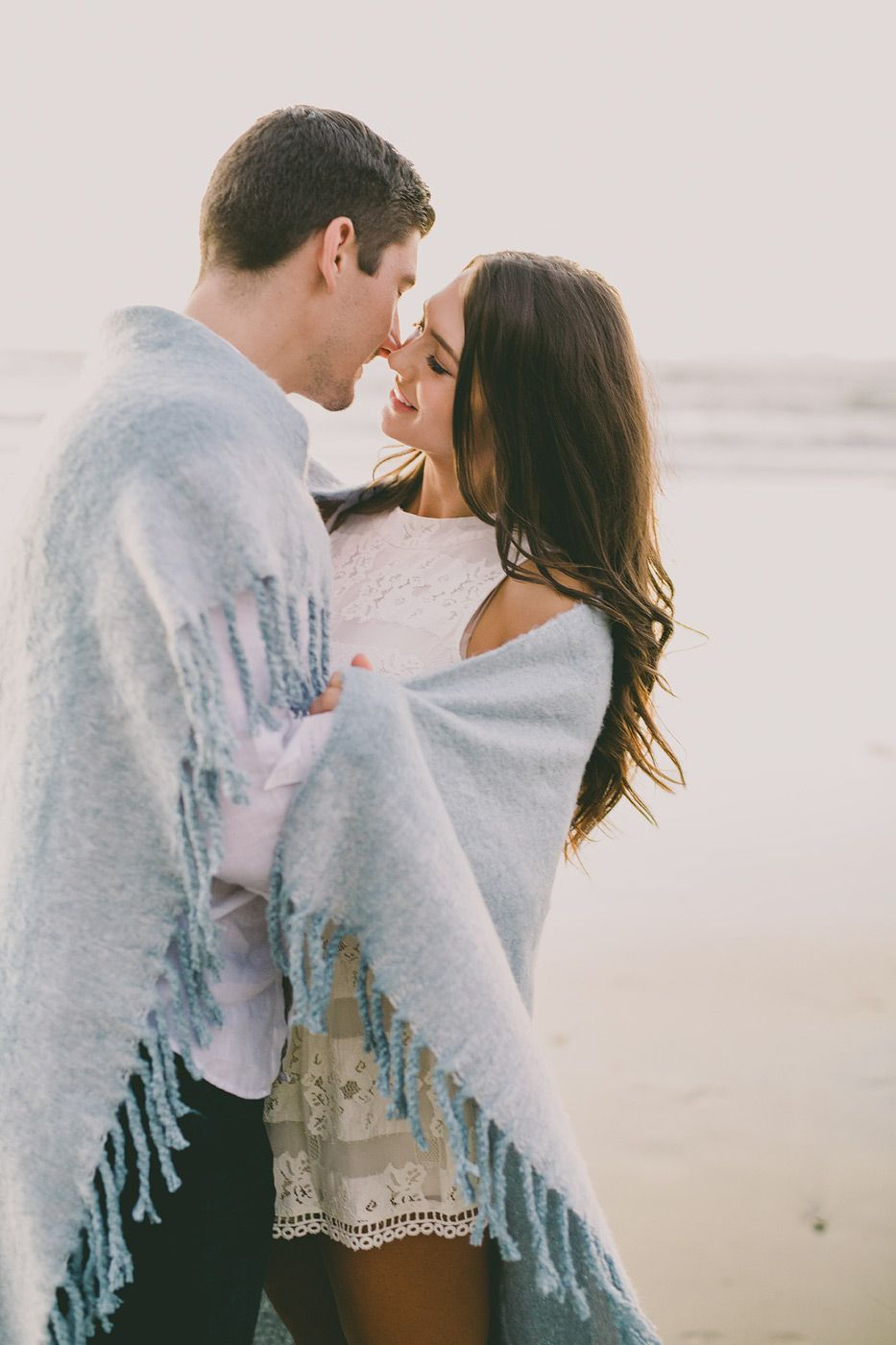 beach engagement photo