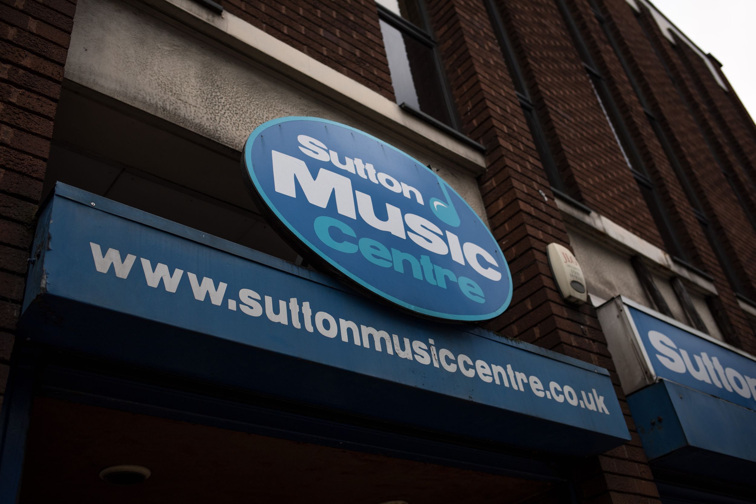 sutton music centre sign