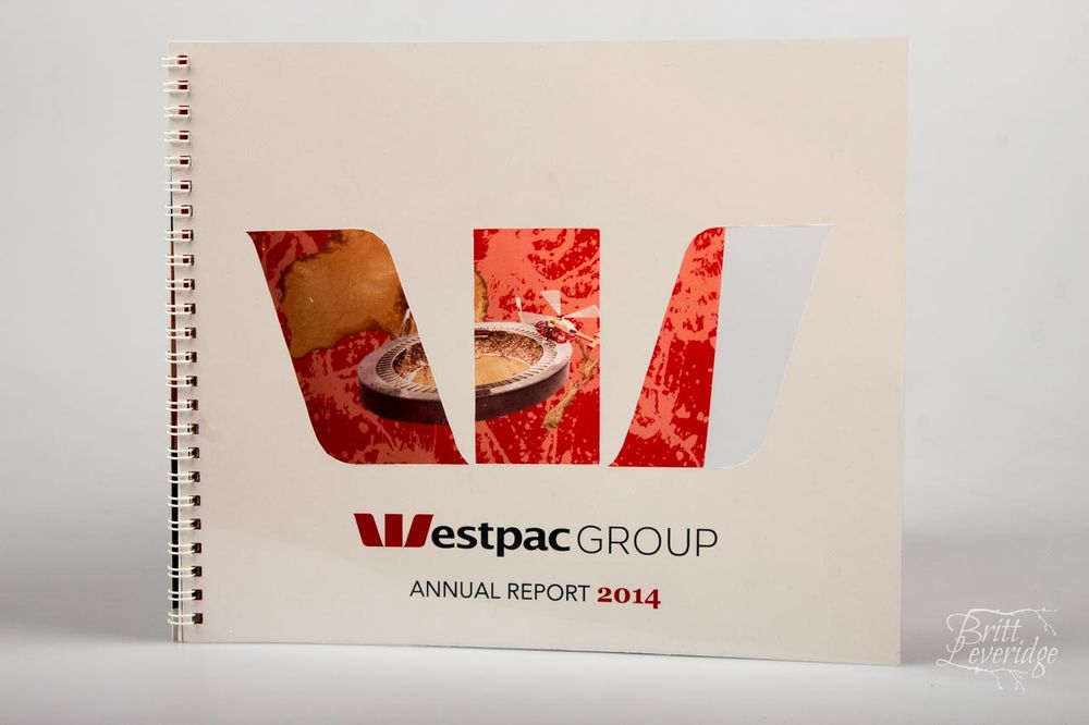 Westpac Annual Report Graphic Design