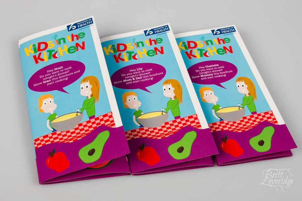 Brochures with vector design graphics