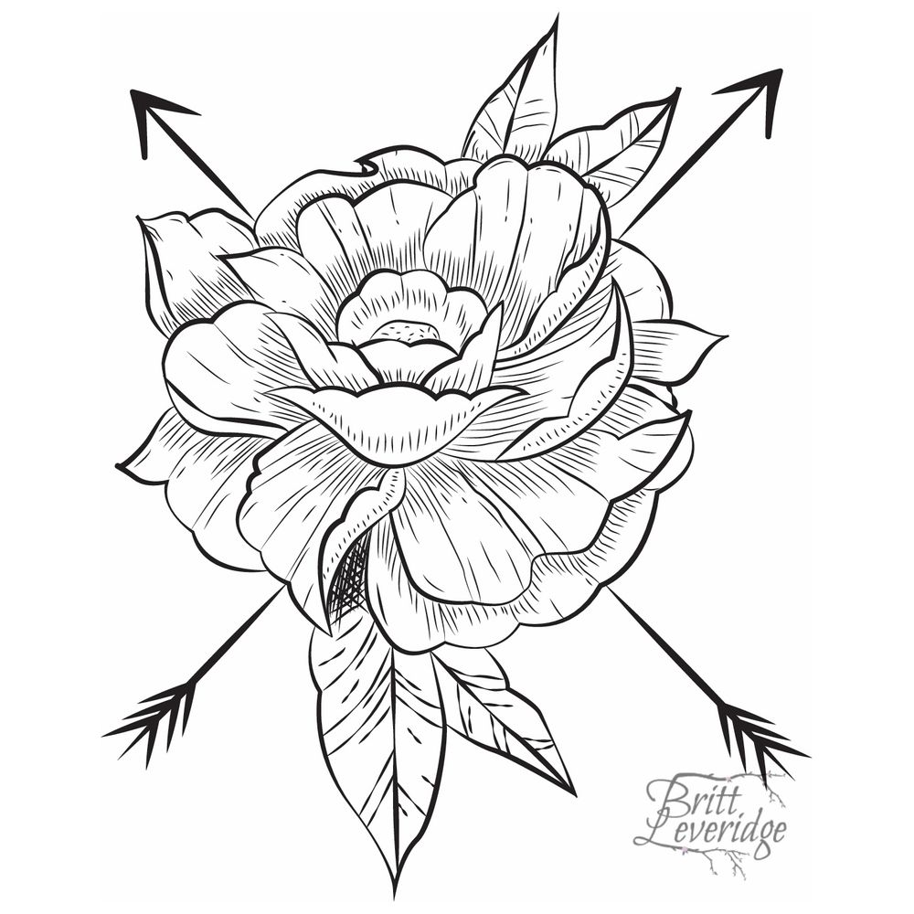 Custom Tattoo Design Black Lines