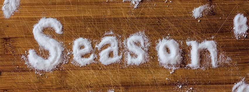"Custom Typography ""Season"" made of Salt"