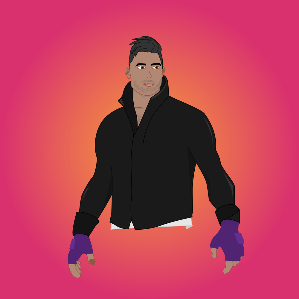 Custom vector image video game character