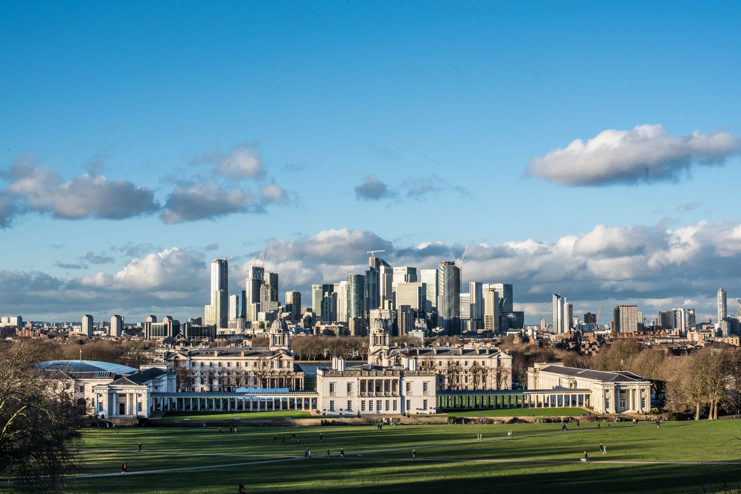 The city of London view from Greenwich