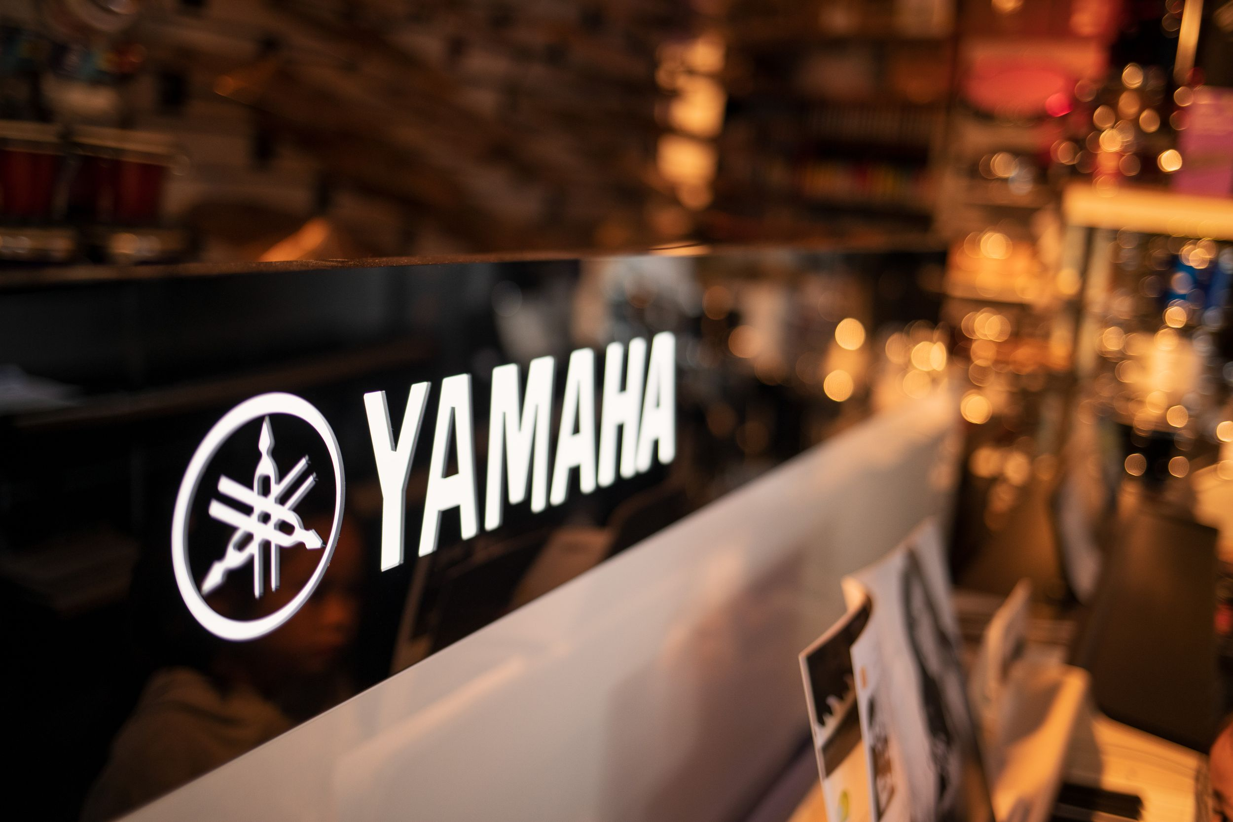 Yamaha branding in the showroom