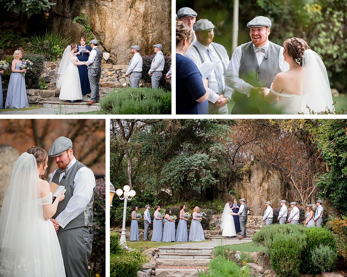 Three Rivers Central Valley California White Horse Inn wedding ceremony