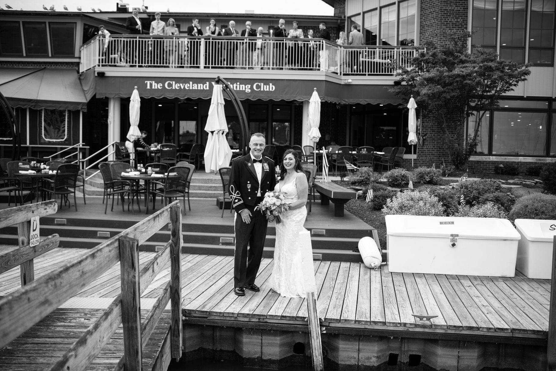outdoor wedding, Cleveland Yachting Club, Ohio