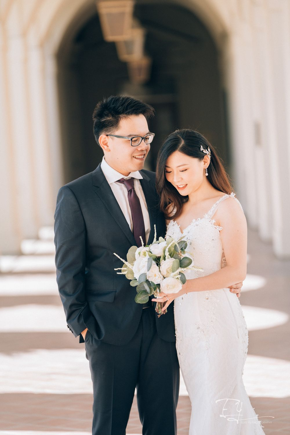 elvis yu photography pre wedding photo pasadena city hall los angeles california socal