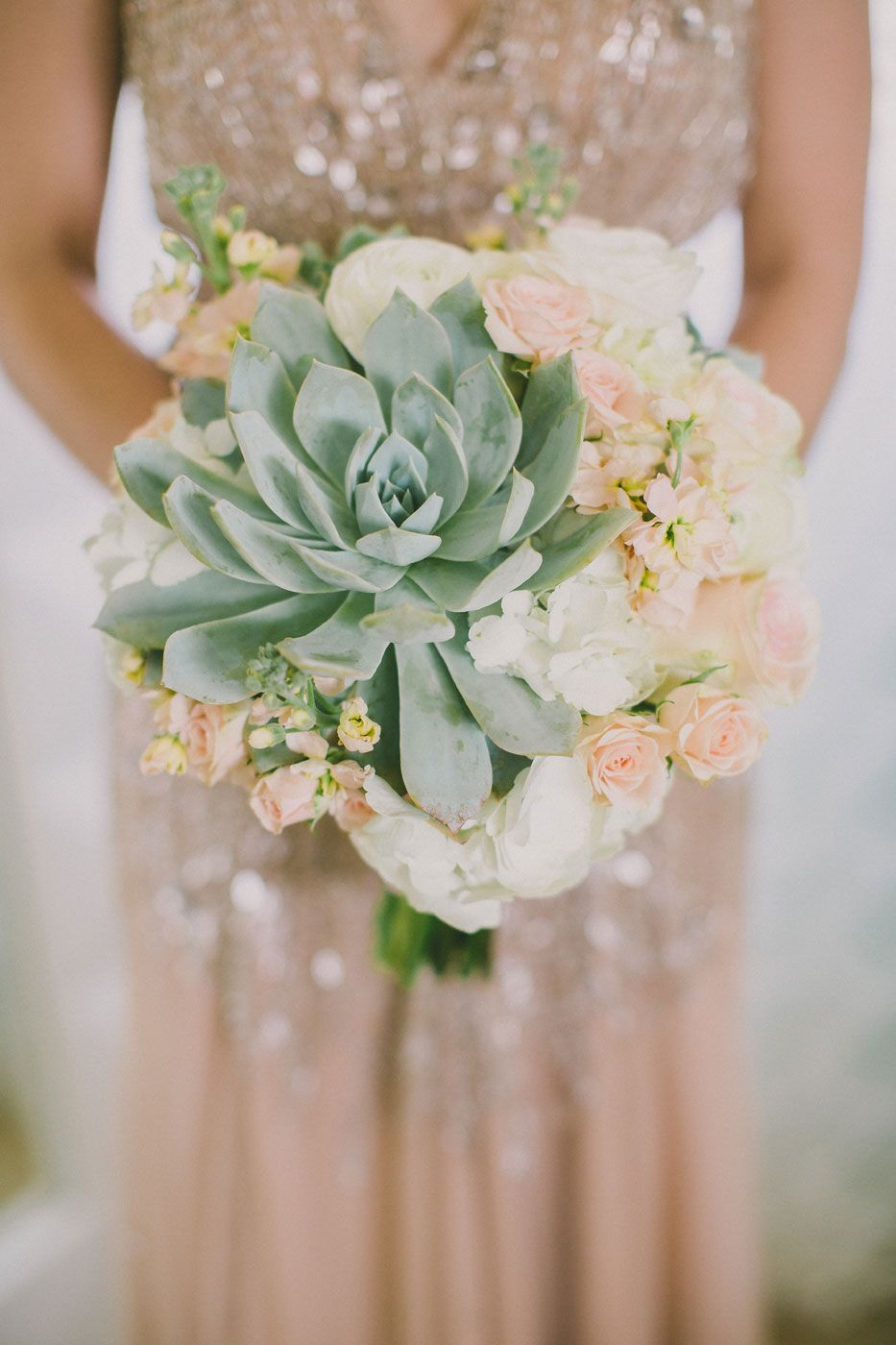 Succulent Bridal Bouquet