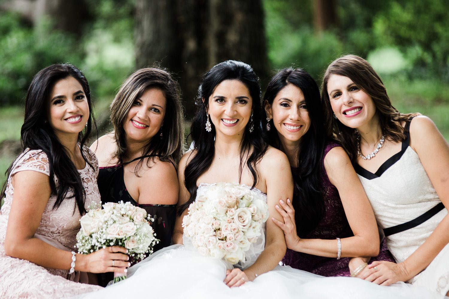 Group photograph of bride, bridesmaids and best friends