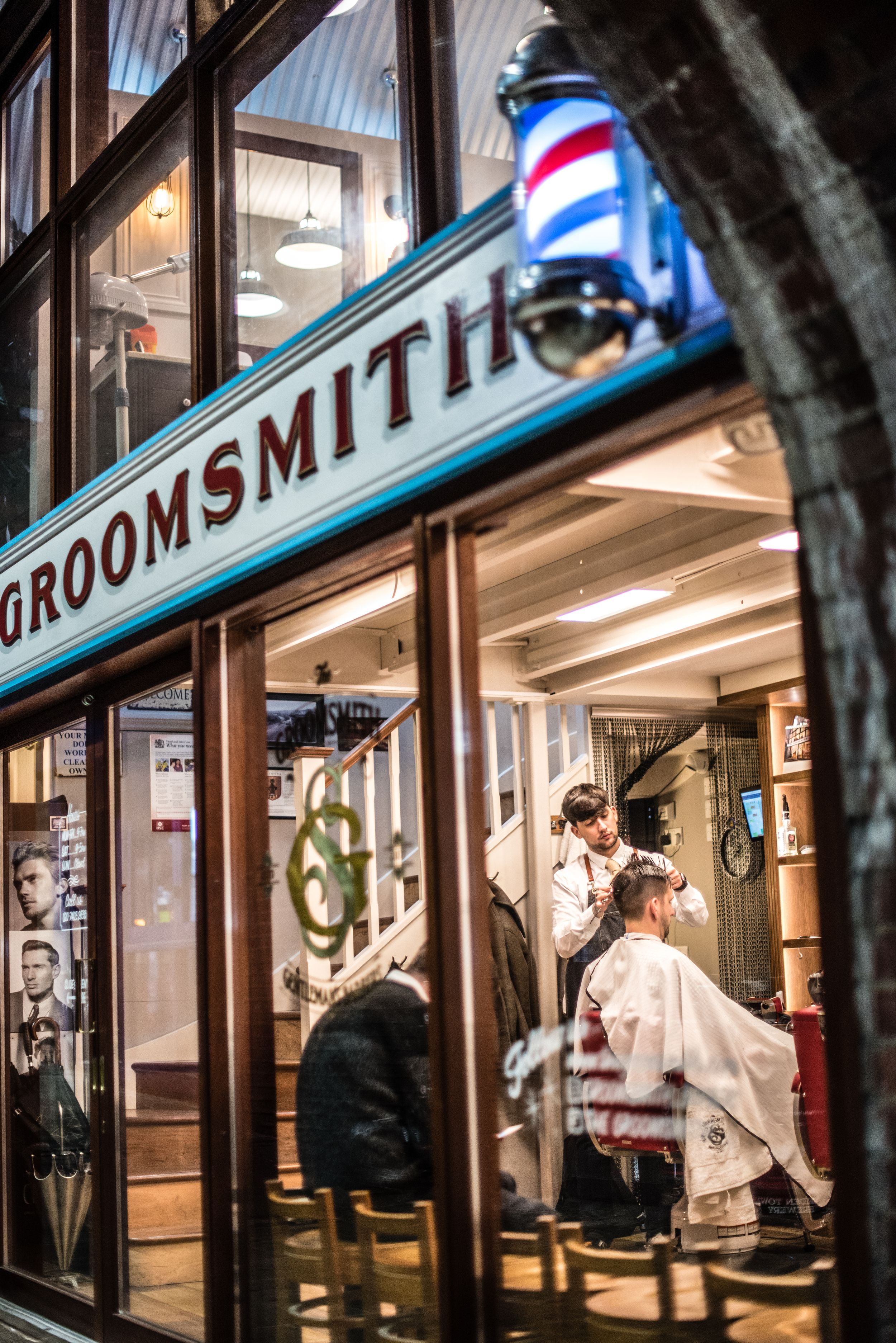 Man getting a haircut at London's Groomsmith