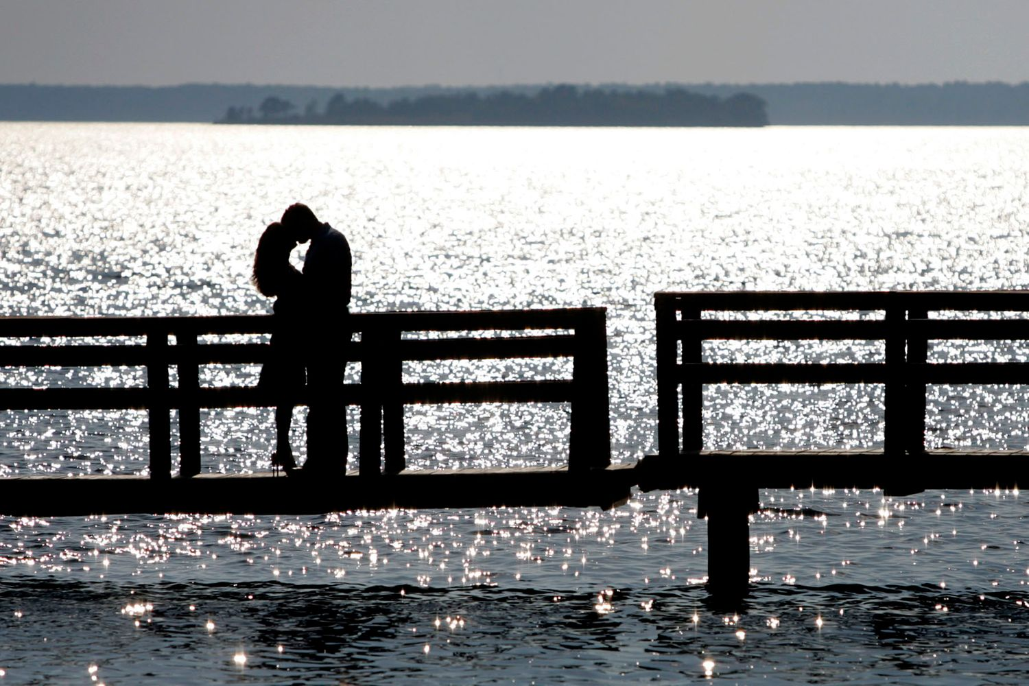 Pine Island Lake Murray engagement portrait by Columbia, SC, Wedding Photographer Jeff Blake