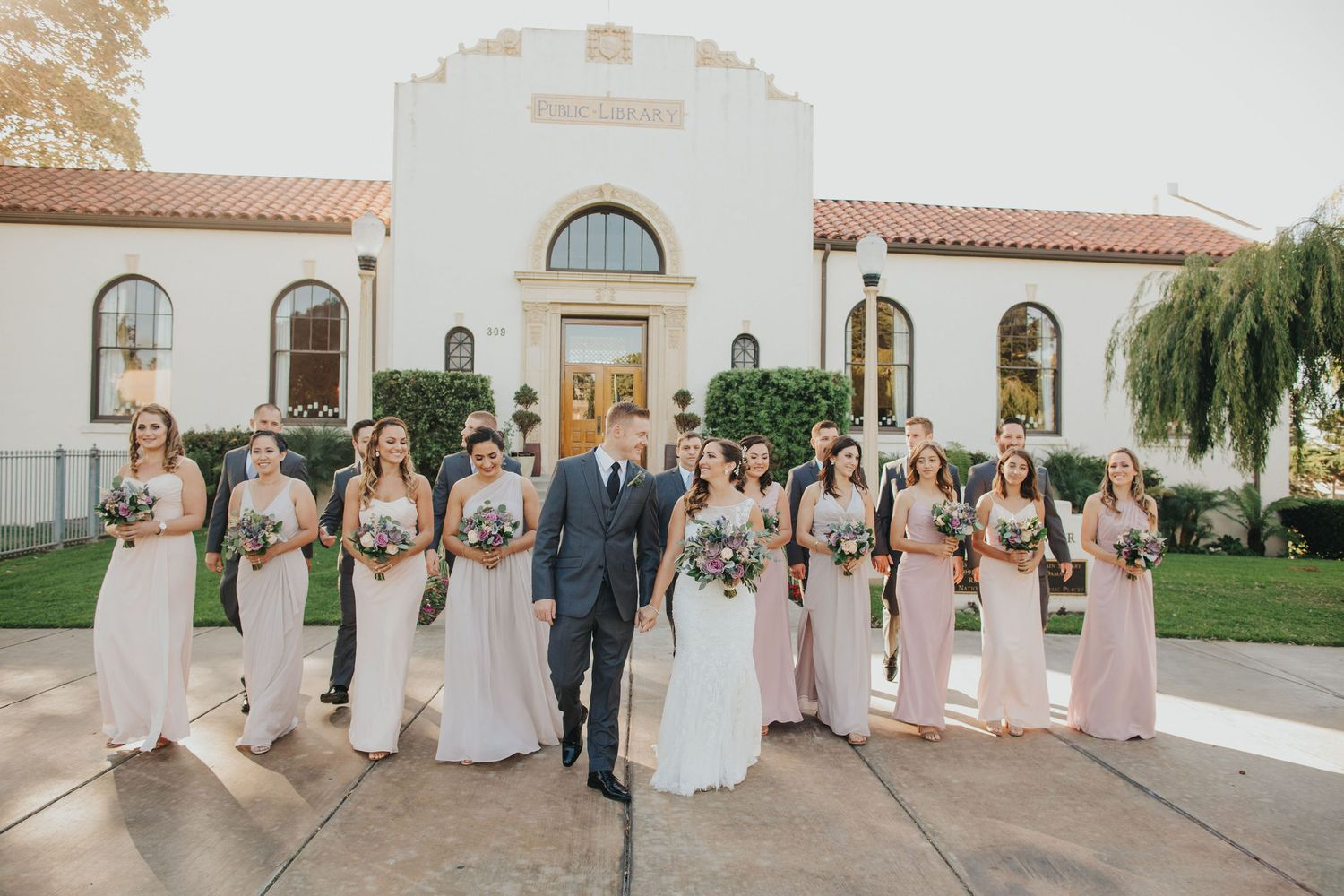 Wedding Party Walk | Redondo Beach Historic Library