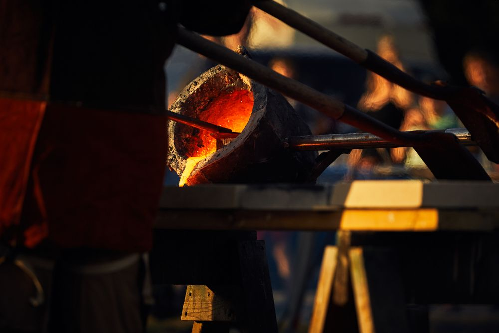 Iron Pour in Frankenmuth Michigan