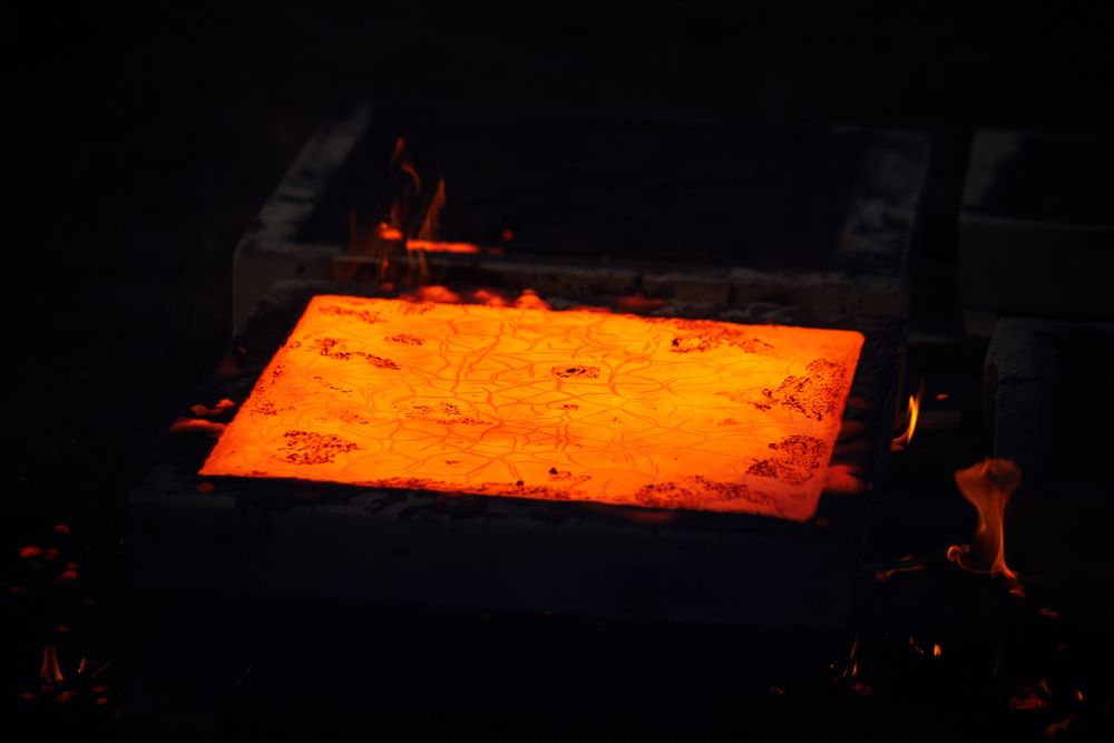 molten iron in cast